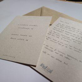Handgeschreven bedankkaartjes